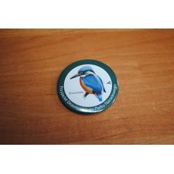 """Zimorodek- znaczek typu buton """"Przyjaciel DPN"""""""