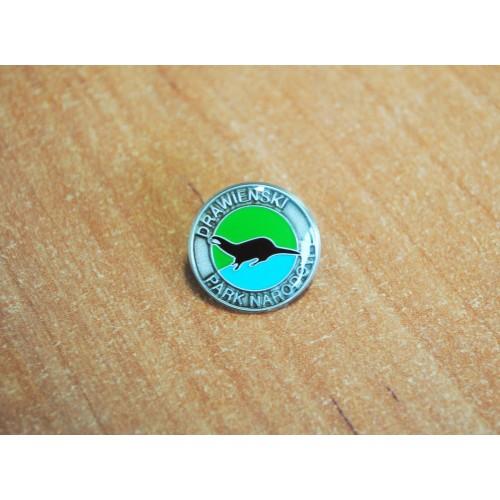 znaczek metalowy z logo dpn