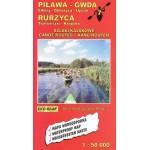 Mapa- Piława-Gwda-Rurzyca szlaki kajakowe